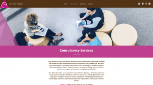 Consultancy Services page from Ethos Farm website
