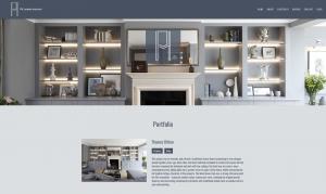 Screenshot of PH London website redesign - Interiors Portfolio Section