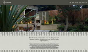 Screenshot of PH London 'Garden' Section' website redesign