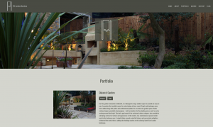 Screenshot of Garden portfolio from PH London website design