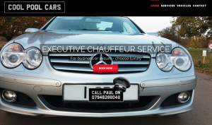 Product page from Cool pool cars website design
