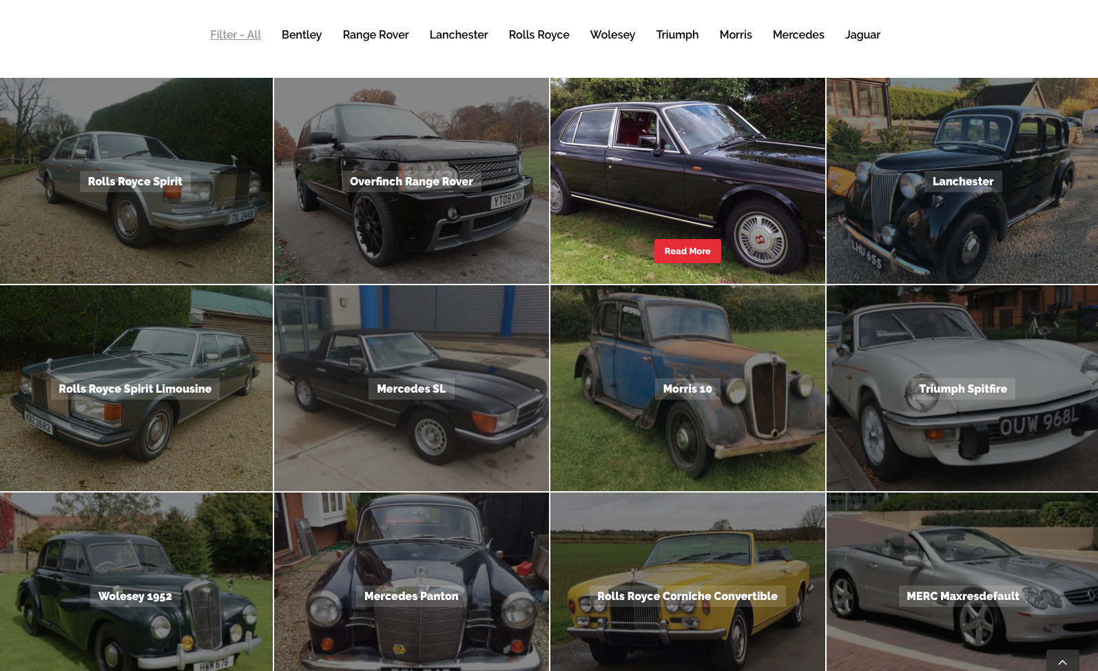 Cool pool cars website design