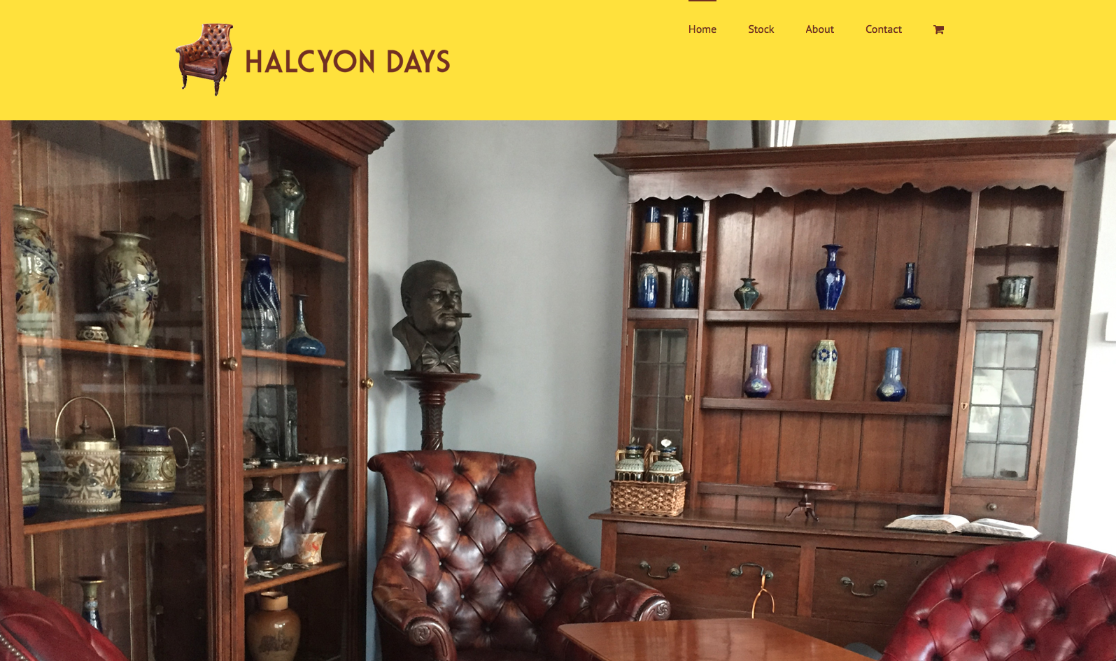 Home page from Halcyon days website design