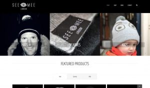 Seemee London homepage design - featured products