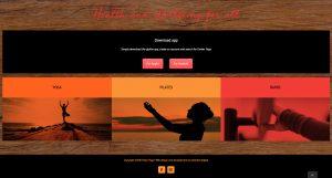 Link to online booking app Glofox on Ember Yoga homepage screenshot