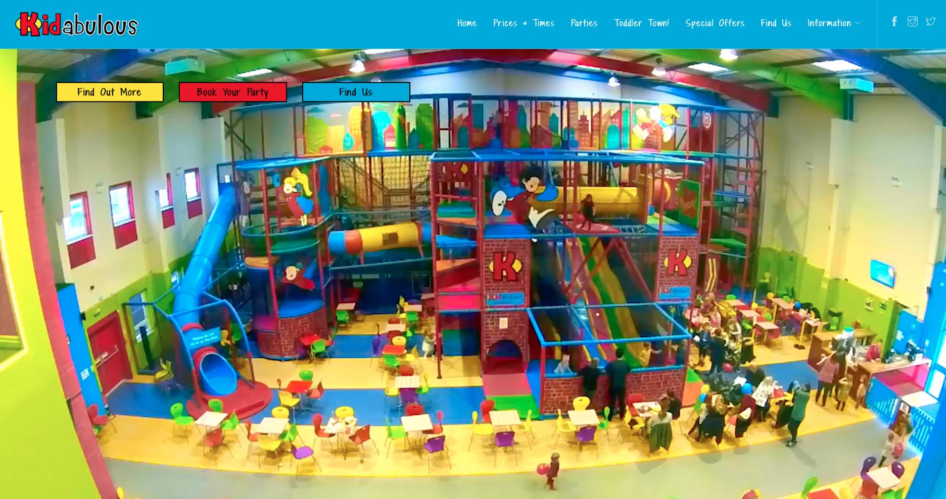 Kidabulous website refresh - home page