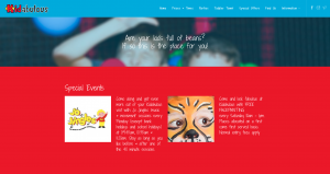 Screenshot of Special Events section from Kidabulous homepage refresh by Collective.Digital
